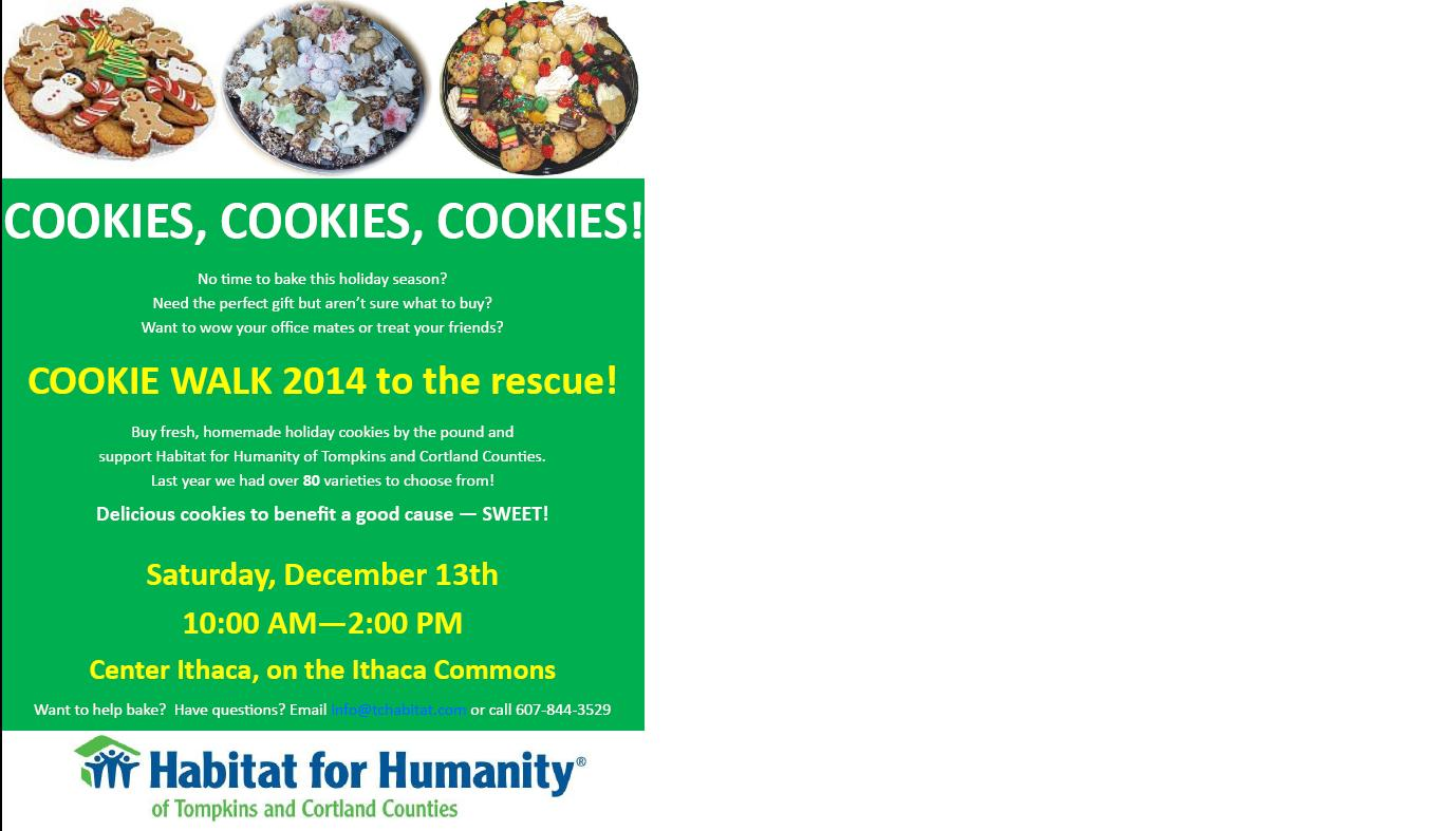 Cookie Walk flyer 2014