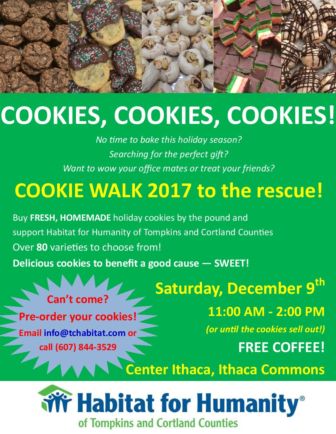 The 6th Annual Cookie Walk is Coming up!